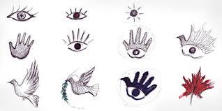 the old dove hand logo combination logo design love