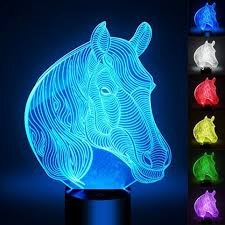 3d optical led illusion l ykl world 7 color change touch