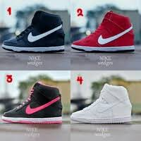 Jual Nike Wedge jual sepatu wanita nike wedges sneakers heels merah hitam