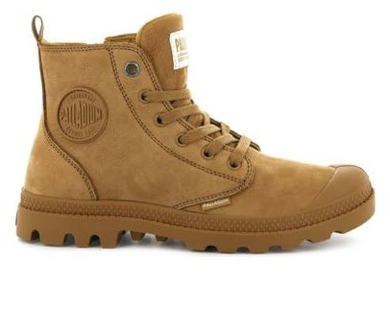 PALLADIUM Pampa Hi Zip Nubuck Women Amber Gold (96440-717-M) (9, Amber Smoke)