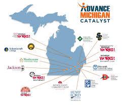 Ann Arbor Michigan Map by Advance Michigan Catalyst Workforce Intelligence Network