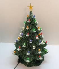 Large Ceramic Christmas Tree Vintage Ceramic Christmas Tree With Faux Plastic Lights Bottom