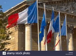 Image Of French Flag Paris France French Flag And National Assembly Building With