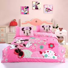 Mickey Mouse Bedroom Ideas Cute Minnie Mouse Bedding Set Pink Grandkids Pinterest