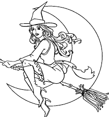 witch free halloween coloring pages adults color books