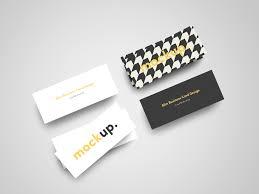 slim business card mock up free on behance