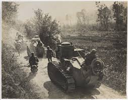 french renault tank a column of mosquito tanks 1917 british army first world war