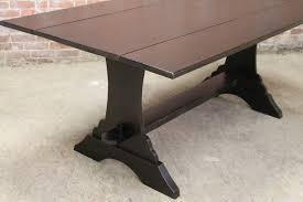 Pine Drop Leaf Table Drop Leaf Farm Table With Trestle Ecustomfinishes