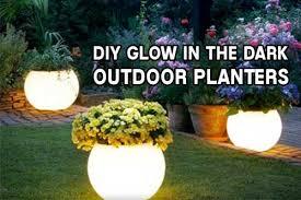 diy glow in the dark outdoor planters u2013 iseeidoimake