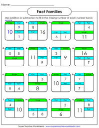 number family worksheets addition and subtraction