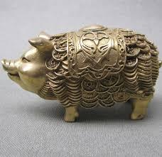 zodiac brass money pig ornaments antique ornaments