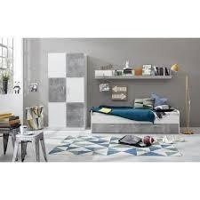 chambre enfants complete canaria chambre enfant complète style contemporaine mélaminée blanc