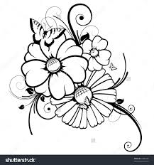 business u0026 home drawing of flowers and butterflies business