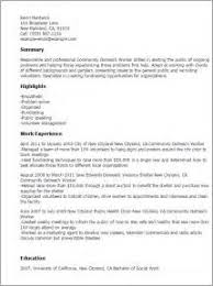 outreach worker cover letter social worker resume lcsw resume