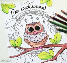owl some coloring page hattifant