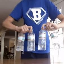 Hilarious Water Challenge Water Bottle Flip Flipforacure Flip For A Cure Omg Four Bottles