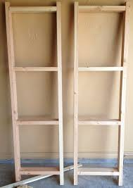 How To Build Wood Shelf Supports by Garage Shelves Diy How To Build A Shelving Unit With Wood