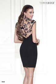 Queen Anne by Tarik Ediz 90442 Queen Anne Neckline Short Dress Madamebridal Com