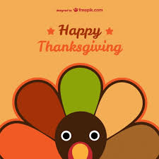 happy thanksgiving card vector free