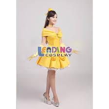 Halloween Costumes Belle Beauty Beast Free Shipping Belle Costume Princess Short Dress Beauty