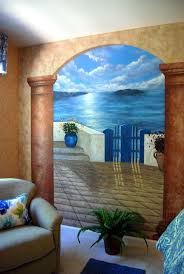 79 best trompe l oeil images on pinterest mural ideas wall santorini greece mural in a bedroom by tom taylor of wow effects the mural was