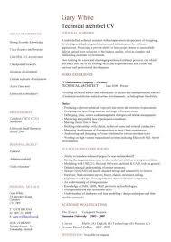 web architect resume it cv template cv library technology job description java cv