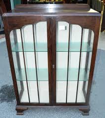 Glass Display Cabinet Perth Art Deco Oak Display Cabinet Display Cabinets Antique