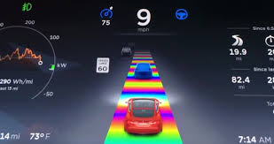 rainbow cars tesla cars news rainbow road added to latest software update