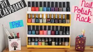 diy cardboard project nail polish rack pot youtube
