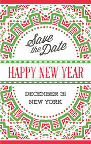 vector happy new year or merry theme save the date