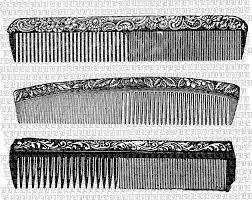 vintage comb digital collage sheet vintage clip illustrations