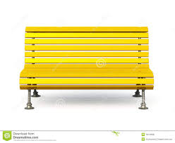 Wooden Park Bench Yellow Park Bench Royalty Free Stock Photos Image 18119928