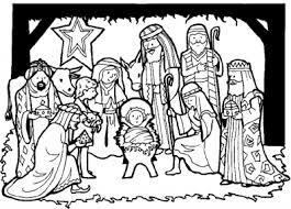 charming ideas jesus birth coloring pages printable christmas