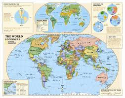World Map Hemispheres by National Geographic Maps Kids Beginners World Wall Map Grades K 3