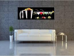 tableau decoration cuisine tableau décoratif cuisine assortiment de cocktail pas cher