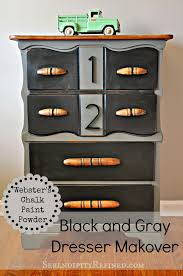 serendipity refined blog black and gray painted dresser