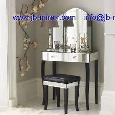Glass Vanity Table Modern Glass Venetian Mirrored Art Deco Dressing Table Mirror Desk