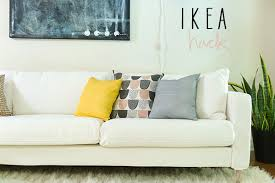 ikea karlstad leather sofa ikea hack karlstad sofa la la lovely