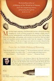 an edible history of humanity tom standage 8601401186908 amazon