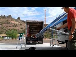 How To Repair An Awning All Seasons Mobile Rv Repair Awning Fabric Replacement Youtube