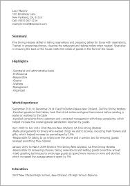 Hostess Resume Example by Bunch Ideas Of Fine Dining Resume Samples For Your Description