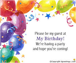 birthday invitation message cloveranddot