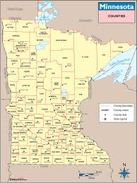 mn counties map minnesota counties and county seats map by maps com from maps com