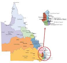 Map Of Queensland Queensland Locations Queensland Government Graduate Portal