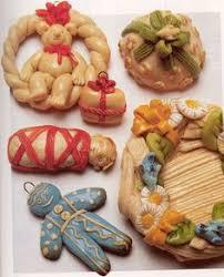 personalized bread dough and groom ornament via
