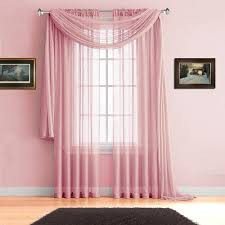Light Pink Window Curtains Warm Home Designs Pink Window Scarves Sheer Light Pink