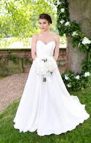 v neck sleeveless a line layered chiffon simple spring wedding