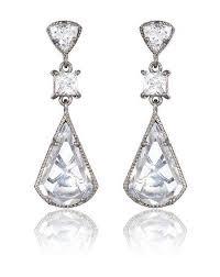 and silver wedding wedding earrings