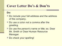 cover letter how to address human resources