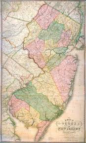 map of nj state of new jersey wall maps and atlases 1812 1888